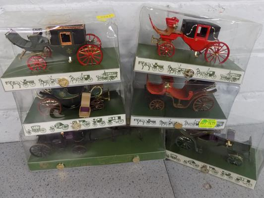 6x Brumm old carriages - all boxed