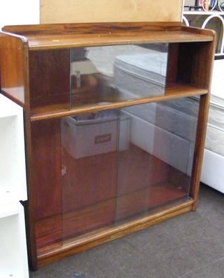 Glass fronted bookcase