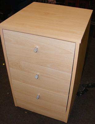 Beech coloured bedside drawers