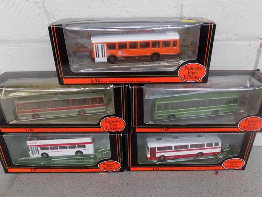 5x Exclusive first edition buses - all boxed