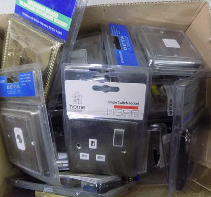 Assortment of sockets, switches etc