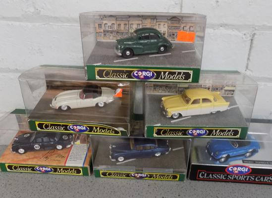 6x Classic model cars - all boxed