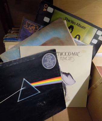 Box of LPs inc Pink Floyd