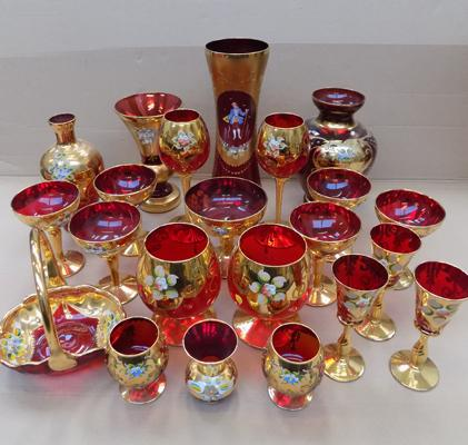 Collection of glass incl: Venetian - 21 pieces