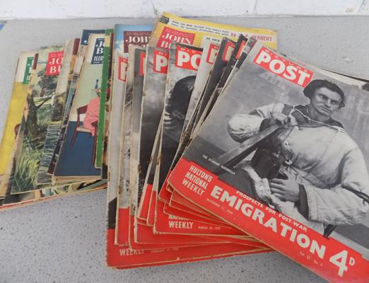 20x Picture post magazines (from 1940's), 20x John Bull magazines from 1950's