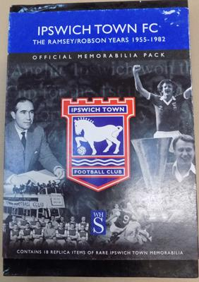 Ipswich Town FC official memorabilia pack, The Ramsey/Robson years 1955/82