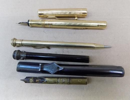 2x Vintage and 1x antique pen (one with gold nib)