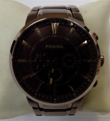 Mans large face Fossil watch