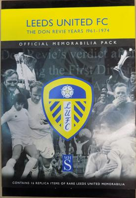 Leeds Utd-Don Revie years 1961-74 official memorabilia pack inc programmes, letters etc