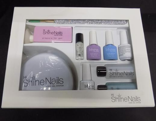 Shine nails home gel system (Gel nail bar in box) complete