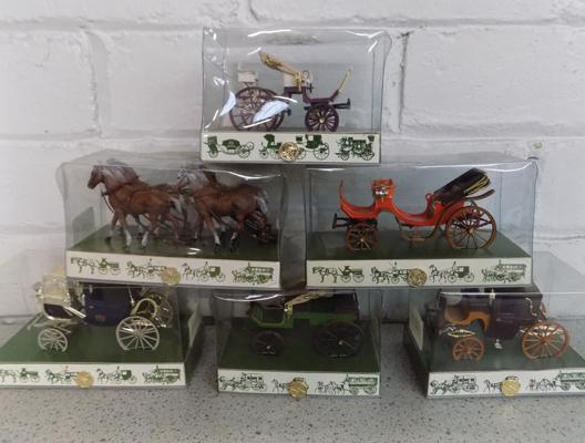 6x Brumm Victorian coaches-all boxed