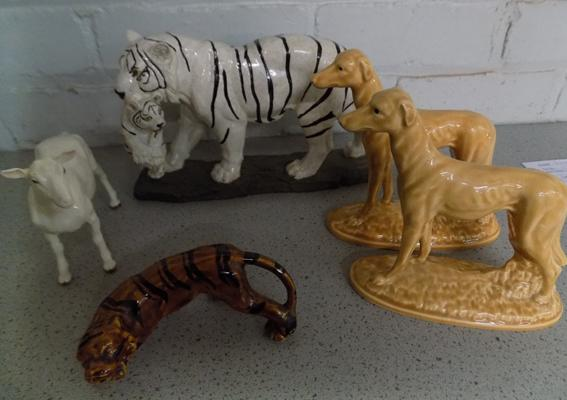 Selection of ceramic animals
