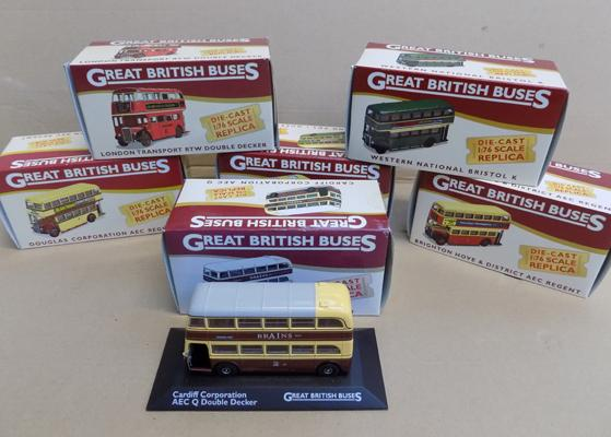 6x Great British buses boxed diecast - good condition
