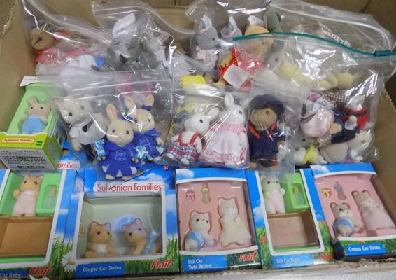 Assortment of Sylvanian families figures-some boxed