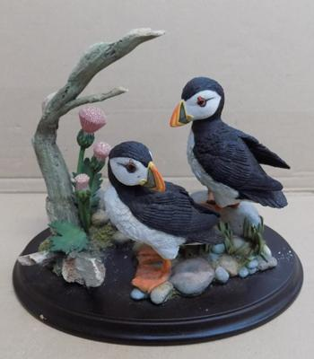 Country artist 'Puffin Pair with Thistles'