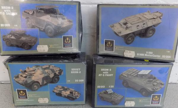 4x Trophy Military vehicles-mint condition-never opened