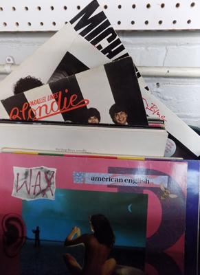 Box of records inc Blondie, OMD, Jackson, Police, Pet Shop Boys etc
