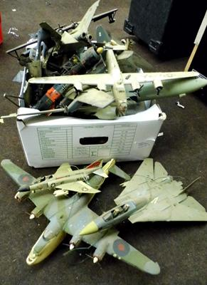 Large assortment of vintage military planes