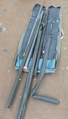 Bag of 5 professional carp rods inc EVO 2 Sea Quiver 270 + Zeta all round 30D for sea fishing