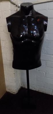 Male mannequin torso on stand