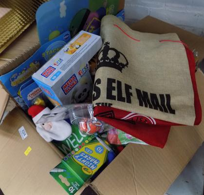 Box of new mixed toys-lots of stocking fillers etc