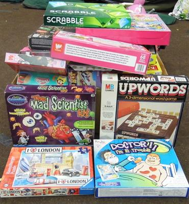 Large box of boxed games