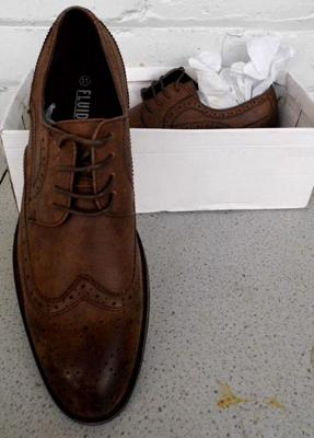 Pair of gents size 11 unworn shoes