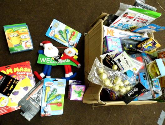 Mixed box of new sealed toys-great stocking fillers