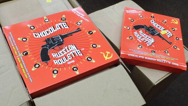 4x Boxes of Russian roulette chocolate games