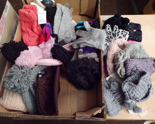 Collection of 24 assorted gloves & mittens