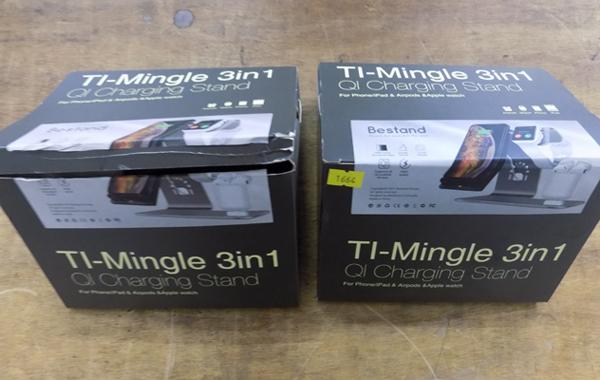 2x New/sealed Ti-Mingle 3in1 charging stand
