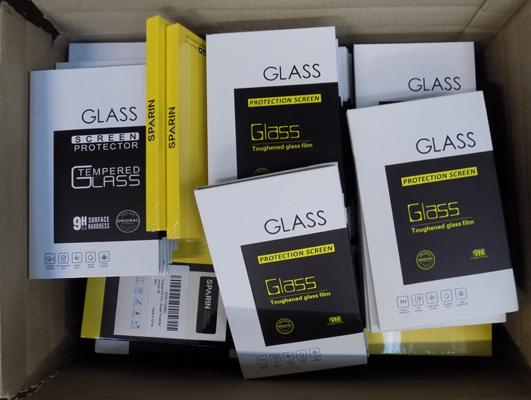 Box of 75 assorted mobile phone cases & screen protectors