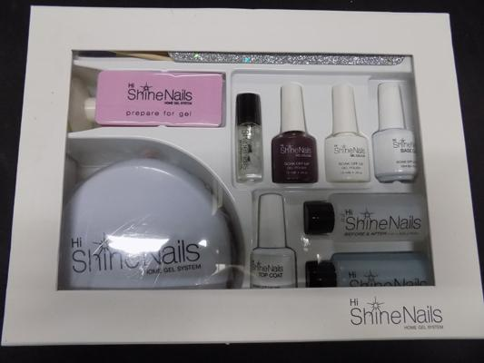 Shine nails home gel system (gel nail bar in a box) complete