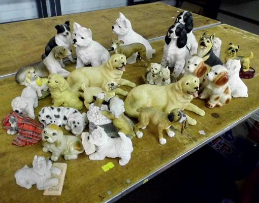Selection of dog ornaments