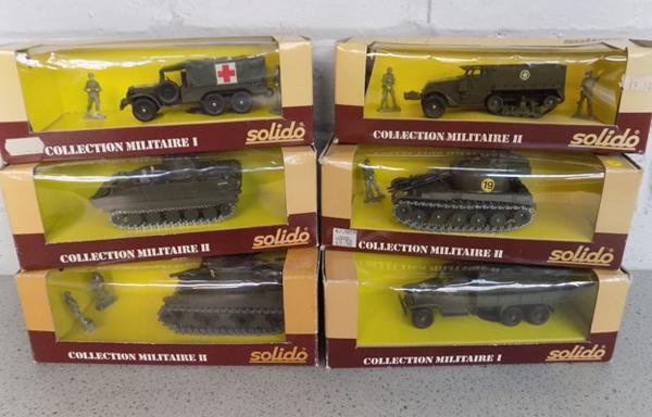 6x Solido military vehicles-all boxed