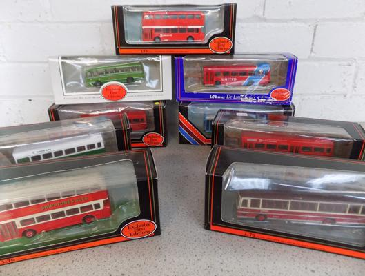 9x Exclusive First Edition buses-all boxed