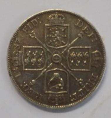 1887 four shilling coin