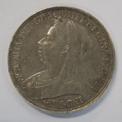 1896 five shilling coin