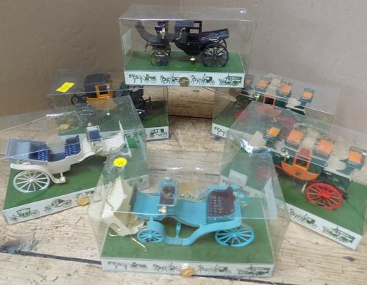 6x Brumm Victorian carriages - all boxed