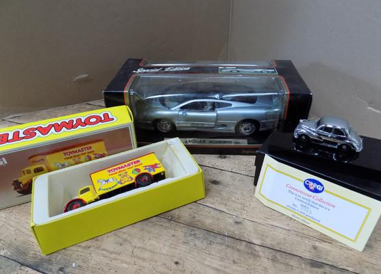 1x Maisto special edition Jaguar and 2 others, 1x Toymaster and Connoisseur Corgi Ltd. Edition Morris Minor