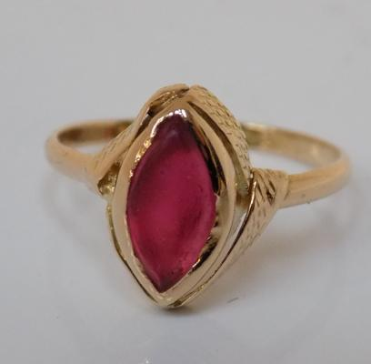 18ct gold ruby ring size K