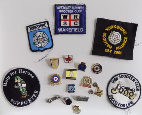 Mixed scooter badges & patches