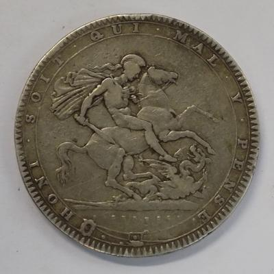 1820 five shilling coin