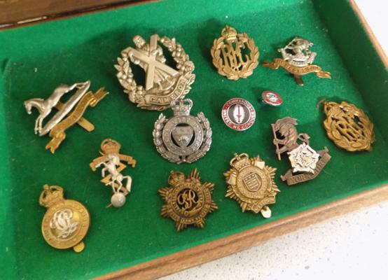 Collection of mixed military & mining badges