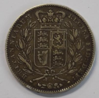 1847 five shilling coin