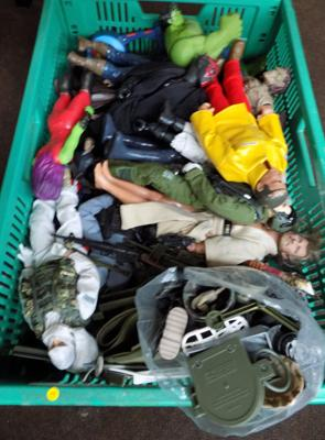 Box of Action Men plus others