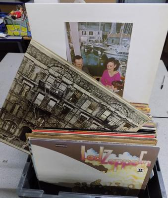 Box of LPs, mainly rare titles