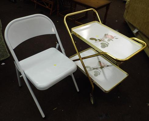Folding kitchen chair and trolley