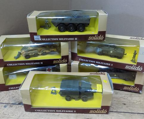 6x Solido military vehicles - all boxed