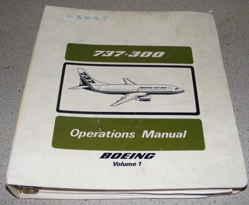 Vintage Boeing 737-300 operations manual
